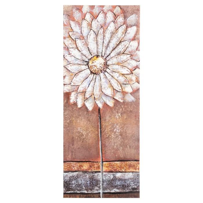 WHITE FLOWER YAĞLIBOYA TABLO 40X100CM