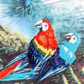 TROPIC BIRD  YAĞLI BOYA TABLO 70X140CM