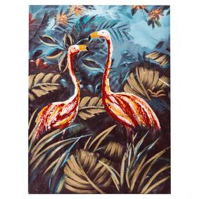 LIGHT PINK FLAMINGOS YAĞLIBOYA TABLO 90X120CM