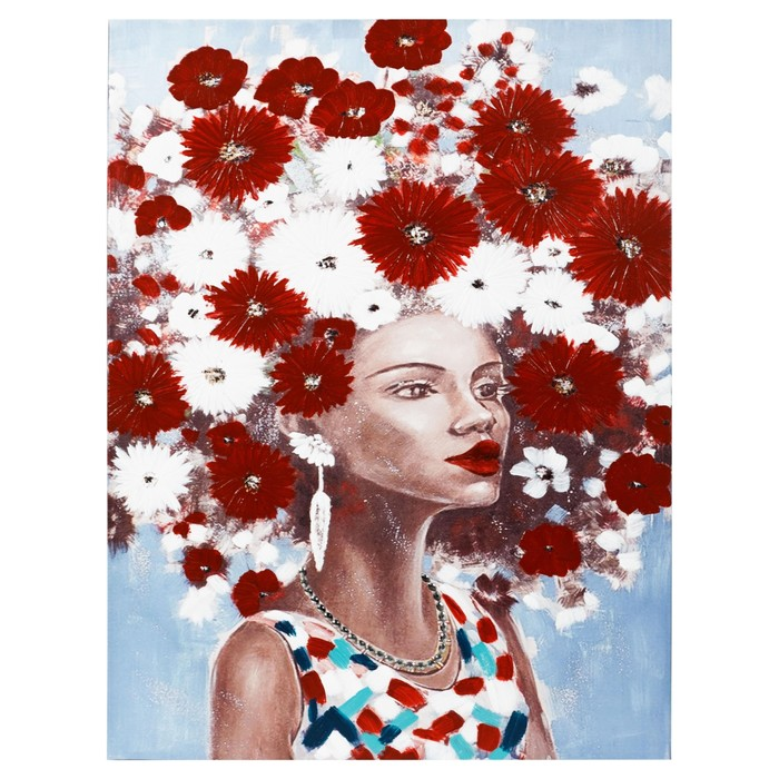 SUPER FLOWER RED YAĞLIBOYA TABLO 90X120CM