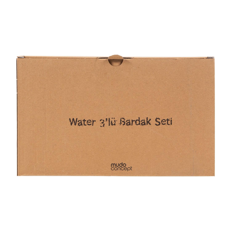 WATER BARDAK 3LÜ SET MAVİ TURKUAZ PEMBE - 570 ML