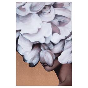 FLOWER LADY BAKIR METAL YAĞLIBOYA TABLO 90X120CM