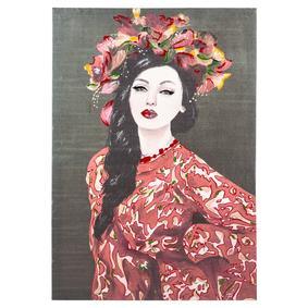 BRUNETTE LADY IN RED YAĞLIBOYA TABLO 70X100CM