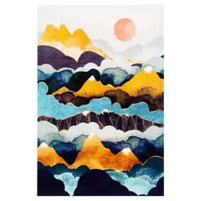 COLORFUL MOUNTAINS DOKULU KANVAS TABLO 60X90CM