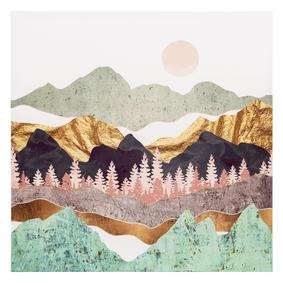MOUNTAINS KANVAS TABLO 80X80CM