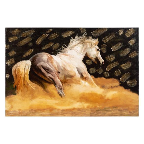 GOLD HORSE VARAKLI KANVAS TABLO 60X90CM