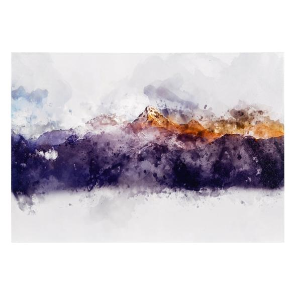 GOLD-BLUE  MOUNTAINS DOKULU KANVAS TABLO 70X100CM