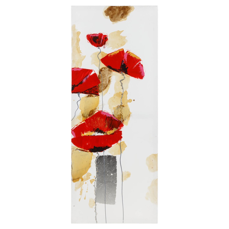 WSTK RED FLOWERS I PANO 40X100 CM