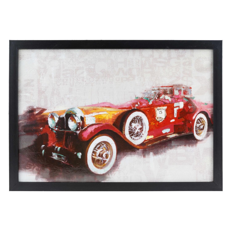 WSTK CLASSIC RED CAR TABLO 35X50 CM