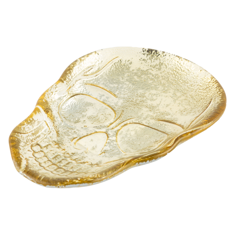 SKULL GOLD TAKI TABAĞI 15 CM
