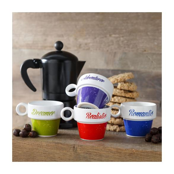 COLORFUL ESPRESSO SETİ  4'LÜ 105ML