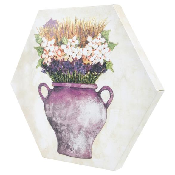 WSTK PURPLE FLOWERS TABLO 30X35 CM