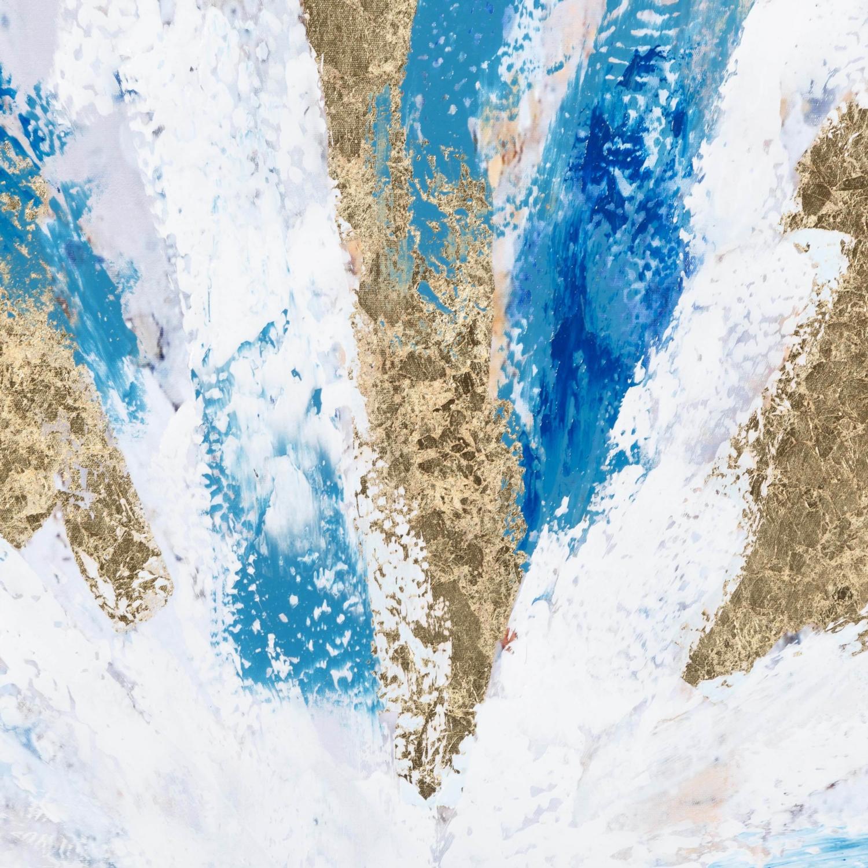 BLUE-GOLD SOYUT YAĞLIBOYA TABLO 100X100 CM