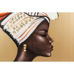 AFRICAN LADY NEW YAĞLIBOYA TABLO 100X100 CM