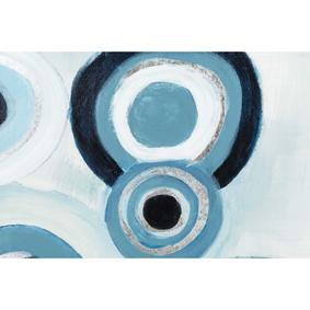 BLUE CIRCLES SOYUT YAĞLIBOYA TABLO 90X120 CM