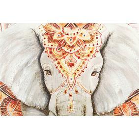 MANDALA ELEPHANT YAĞLIBOYA TABLO 100X100 CM