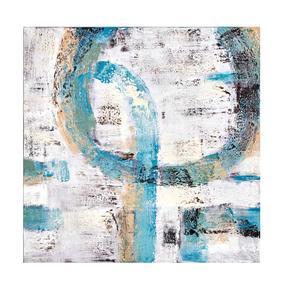 LIGHT BLUE SOYUT YAĞLIBOYA TABLO 100X100 CM