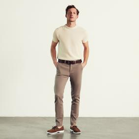 Erkek VİZON SLIM FIT CHINO PAMUKLU PANTOLON 1224143|MUDO