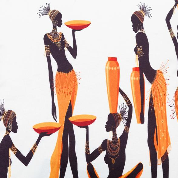 AFRICAN LADIES KIRLENT 45X45CM