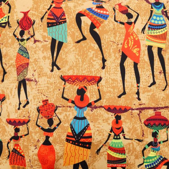 AFRICAN TRIBE KIRLENT 45X45CM