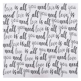 LOVE IS ALL YOU NEED DOKULU KANVAS TABLO 80x80 CM