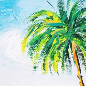 TROPICAL ISLAND DOKULU KANVAS TABLO 70x100 CM