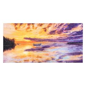 SUNSET ON THE SEA DOKULU KANVAS TABLO 50x100 CM
