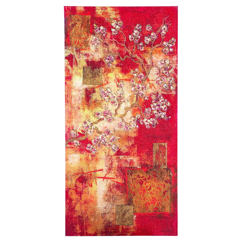 CHINESE FLOWER II DOKULU KANVAS TABLO 50x100