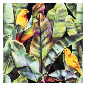 TROPICAL BIRDS DOKULU KANVAS TABLO 80x80 CM