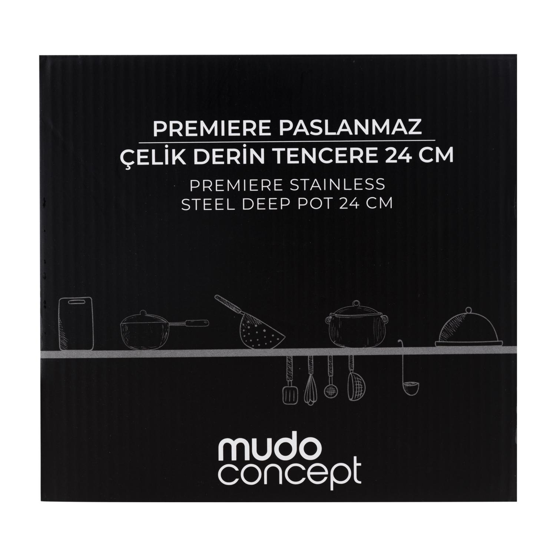 PREMIERE STAINLESS STEEL DERİN TENCERE 24 CM