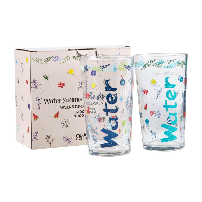 WATER BARDAK 570 ML 2'Lİ SET SUMMER EDITION