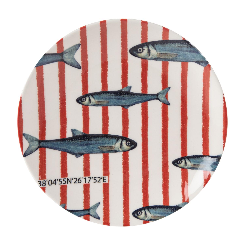 DEEP BLUE PASTA TABAĞI 21CM FISH