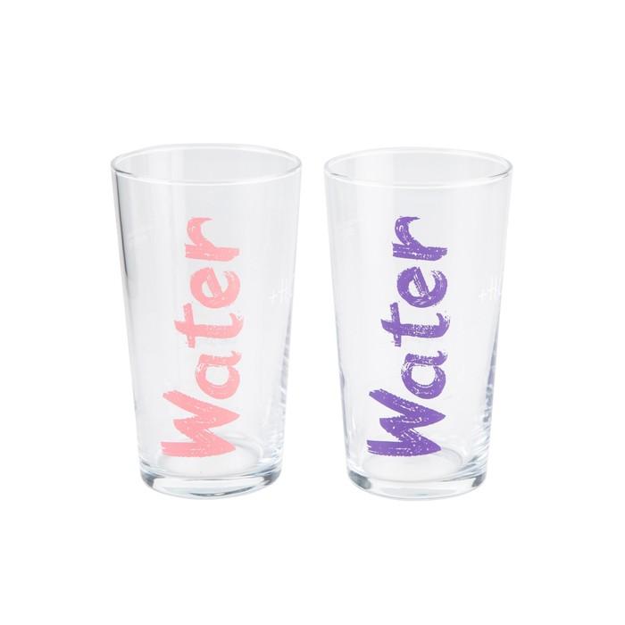 WATER BARDAK 570 ML 2'Lİ SET - PEMBE & MOR