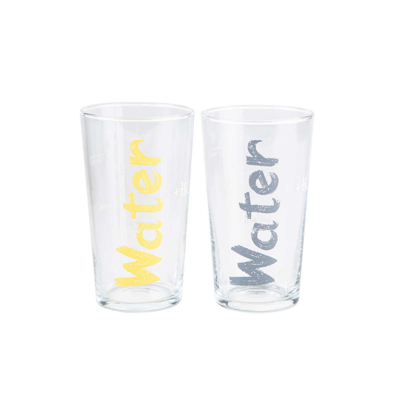 WATER BARDAK 570 ML 2'Lİ SET -  SARI &GRİ