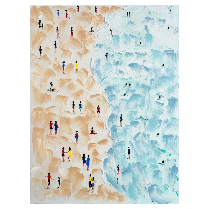 BLUE BEACH YAĞLI BOYA TABLO 90X120 CM