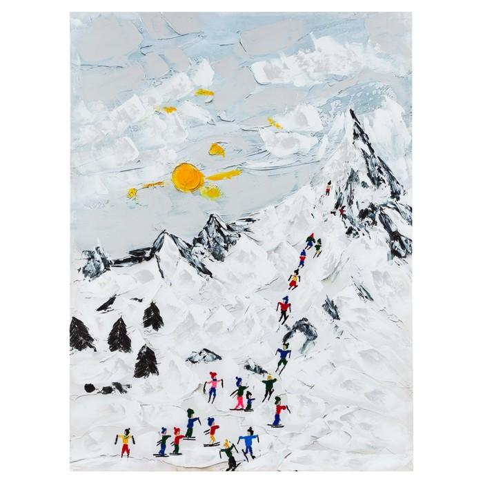 SNOWY MOUNTAIN YAĞLI BOYA TABLO 90X120 CM